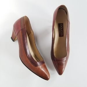 Dolcis Vintage Brown Leather Pump Heels 10M